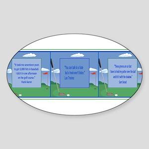 Golf Quotes Tri Oval Sticker