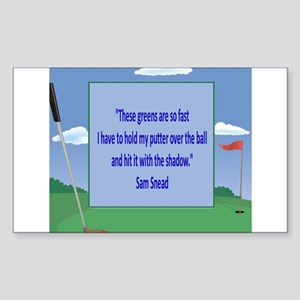 Golf Quotes Sneed Rectangle Sticker