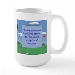 Golf Quotes Aaron Large Mug