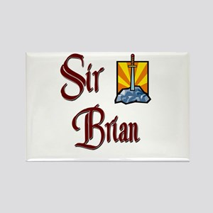Sir Brian Rectangle Magnet