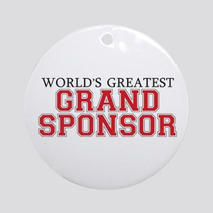 World's Greatest Grand Sponso Ornament (Round)
