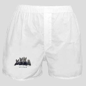 Scottish Terrier Winter Boxer Shorts