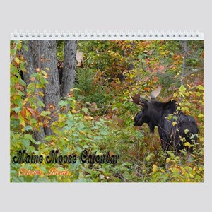 Maine Moose Wall Calendar 2