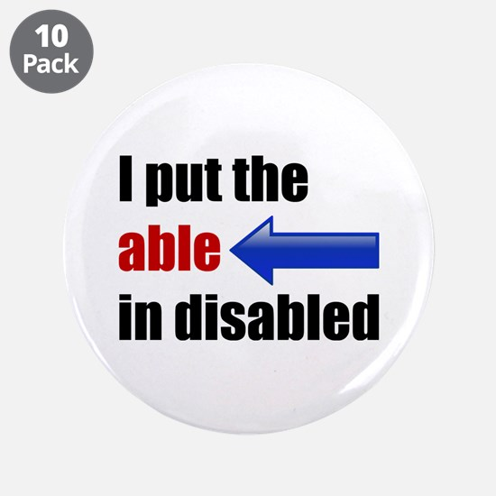 """Able 3.5"""" Button (10 pack)"""