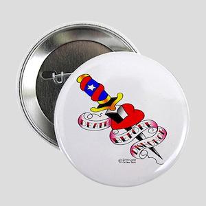 """Tattoo Dagger & Heart 1003 2.25"""" Button"""