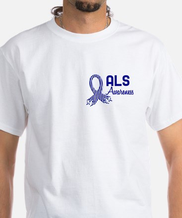 ALS Awareness White T-Shirt