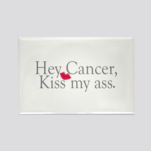 Cancer Kiss My Ass Rectangle Magnet
