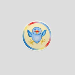 Bluebirds are Birds of Happiness Mini Button