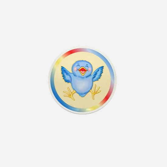 Bluebirds are Birds of Happiness Mini Button