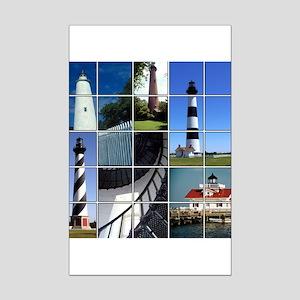 Outer Banks Lighthouses Mini Poster Print