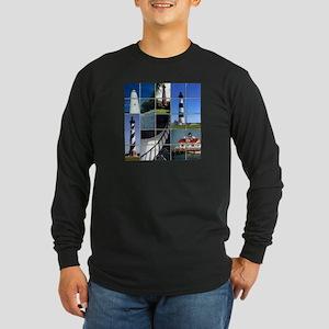 Outer Banks Lighthouses Long Sleeve Dark T-Shirt
