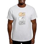 3 ASL Kitties Light T-Shirt