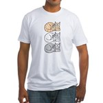 3 ASL Kitties Fitted T-Shirt