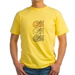 3 ASL Kitties Yellow T-Shirt