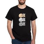 3 ASL Kitties Dark T-Shirt
