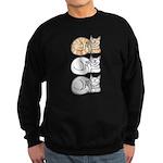 3 ASL Kitties Sweatshirt (dark)