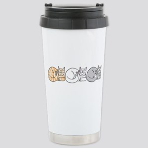 3 ASL Kitties Stainless Steel Travel Mug