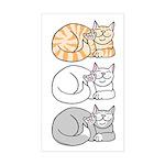 3 ASL Kitties Rectangle Sticker
