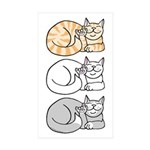 3 ASL Kitties Rectangle Sticker 10 pk)