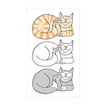 3 ASL Kitties Rectangle Sticker 50 pk)