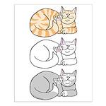3 ASL Kitties Small Poster