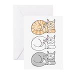 3 ASL Kitties Greeting Cards (Pk of 10)