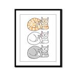 3 ASL Kitties Framed Panel Print
