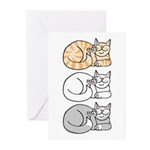 3 ASL Kitties Greeting Cards (Pk of 20)
