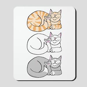 3 ASL Kitties Mousepad