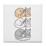 3 ASL Kitties Tile Coaster