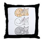 3 ASL Kitties Throw Pillow