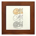 3 ASL Kitties Framed Tile