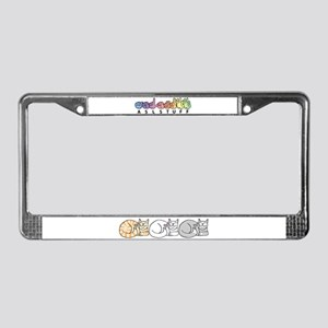 3 ASL Kitties License Plate Frame