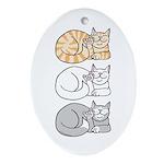 3 ASL Kitties Oval Ornament