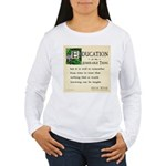 Education Women's Long Sleeve T-Shirt