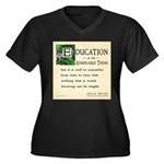 Education Women's Plus Size V-Neck Dark T-Shirt
