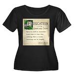Education Women's Plus Size Scoop Neck Dark T-Shir