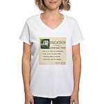 Education Women's V-Neck T-Shirt