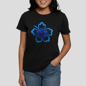 Blue Hibiscus Women's Dark T-Shirt