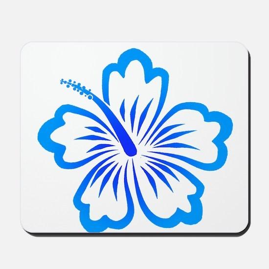 Blue Hibiscus Mousepad