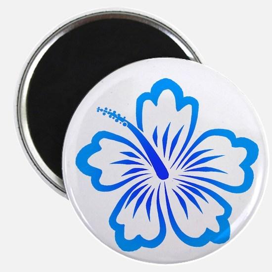 Blue Hibiscus Magnet