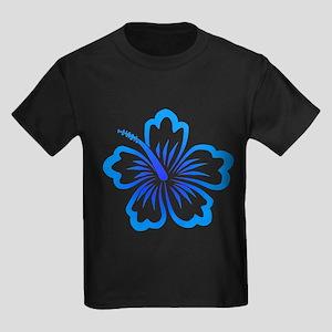 Blue Hibiscus Kids Dark T-Shirt