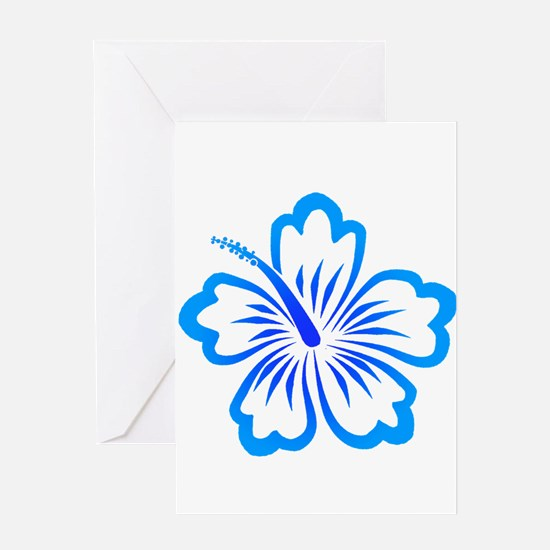 Blue Hibiscus Greeting Card