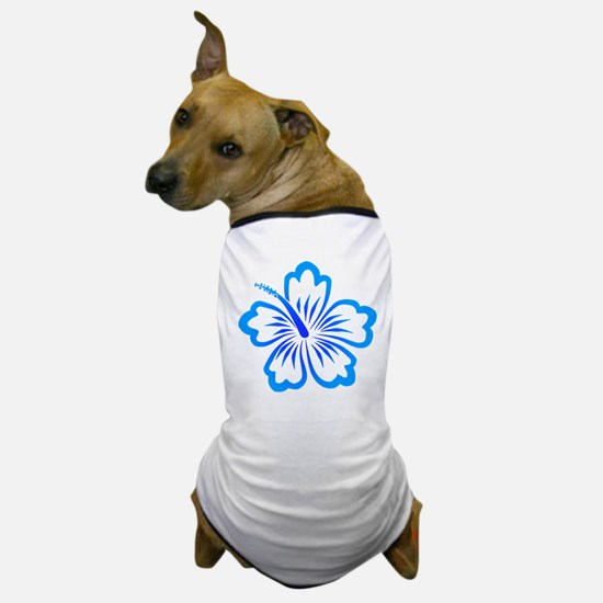Blue Hibiscus Dog T-Shirt
