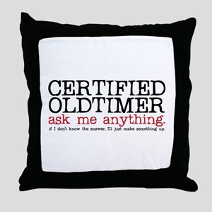 Certified Oldtimer Throw Pillow