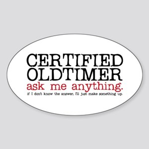Certified Oldtimer Oval Sticker