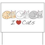 I Heart Cats Yard Sign