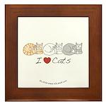 I Heart Cats Framed Tile