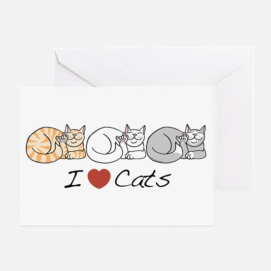 I Heart Cats Greeting Card