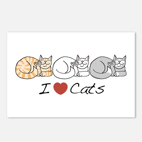 I Heart Cats Postcards (Package of 8)